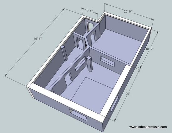 home recording studio design plans
