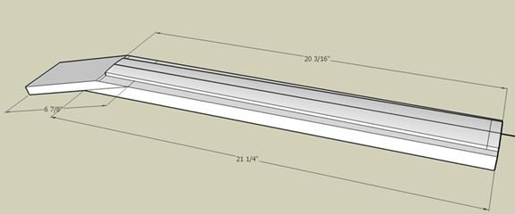3-D rendering of the neck blank