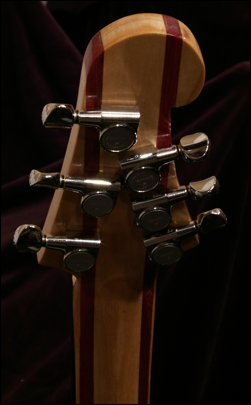 A photo of the headstock from the back