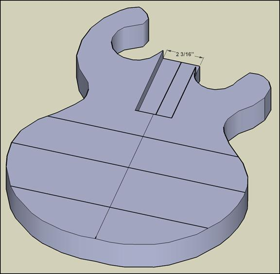 3-D rendering of the baritone body