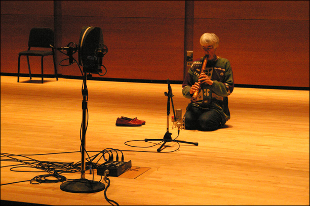 Tracking Solo Shakuhachi at Tufts Distler Hall with Elizabeth Reian